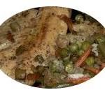 Бяла риба със зеленчуци
