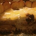 Торта с праскови и ананас