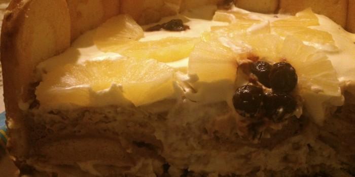 Торта с бишкоти и маскарпоне